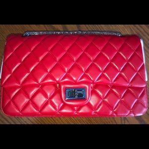 Macton Classic Sheepskin Genuine Leather Bag-Red